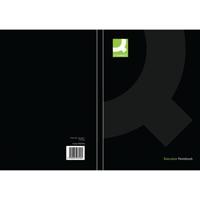 Q-Connect Hardback Casebound Notebook A5 Black (Pack of 3) KF03726