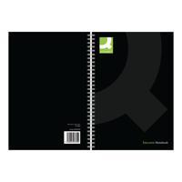 Q-Connect Polypropylene Wirebound Book A5 Black (Pack of 3) KF03730