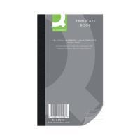 Q-Connect Triplicate Book 8.2x5 Inches Ruled Feint KF04098