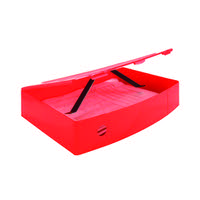 Q-Connect Polypropylene Red Foolscap Box File KF04104