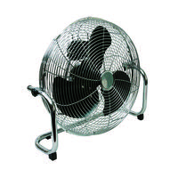 Q-Connect Chrome High Velocity 450mm/18in Floor-Standing 3-Speed Fan KF10031