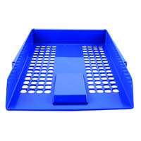 Q-Connect Blue Plastic Letter Tray CP159KFBLU