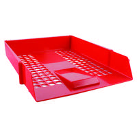 Q-Connect Red Plastic Letter Tray CP159KFRED