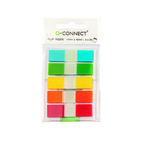 Q-Connect Assorted 1/2 Inch Page Markers (Pack of 130) KF14966