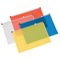 Q-Connect Assorted A4 Document Zip Wallet (Pack of 20) KF16552