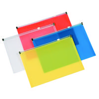 Q-Connect Assorted A5 Document Zip Wallet (Pack of 20) KF16553