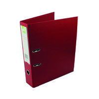 Q-Connect Polypropylene 70mm Red Lever Arch Foolscap File (Pack of 10) KF20027