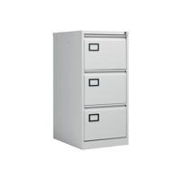 Jemini Light Grey 3 Drawer Filing Cabinet (Dimensions: W470 x D622 x H1016mm) KF20043