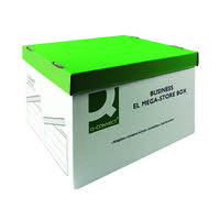 Q-Connect Green and White Mega-Store Box (Pack of 10) KF21738