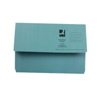 Q-Connect Foolscap Blue Document Wallet (Pack of 50) KF23011