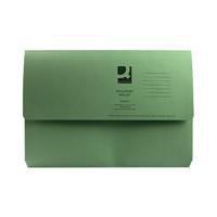 Q-Connect Foolscap Green Document Wallet (Pack of 50) KF23012