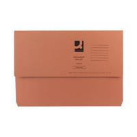 Q-Connect Foolscap Orange Document Wallet (Pack of 50) KF23014