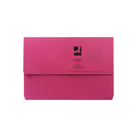 Q-Connect Foolscap Red Document Wallet (Pack of 50) KF23016