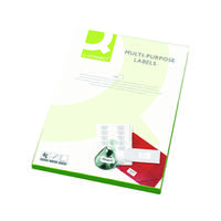 Q-Connect White Multipurpose Label 99.1 x 67.7mm 8 Per Sheet (Pack of 800) KF26055