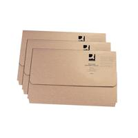 Q-Connect Recycled Buff Kraft Document Wallet Pack of 50 KF26090