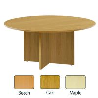 Jemini 1200mm Round Meeting Table Maple KF71954