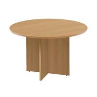 Arista 1100mm Round Meeting Table Oak KF72049