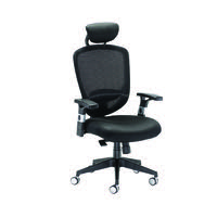 Arista Black Mesh High Back Task Chair With Headrest H-9056-L1 KF72245