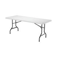 Jemini White 1830mm Folding Rectangular Table KF72330