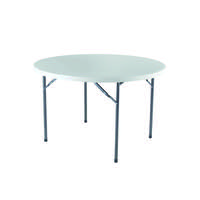 Jemini White 1200mm Folding Round Table KF72331