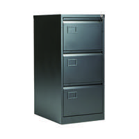 Jemini 3 Drawer Filing Cabinet Black KF72586