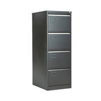 Jemini 4 Drawer Filing Cabinet Black KF72587