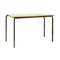 Jemini MDF Edge Beech Top Class Table With Black Frame 1100x550x710mm (Pack of 4) KF74552