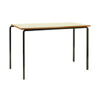 Jemini MDF Edge Beech Top Class Table With Black Frame 1100x550x760mm (Pack of 4) KF74554