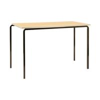 Jemini PU Edge Beech Top 1100x550x710mm Class Table With Silver Frame (Pack of 4) KF74570