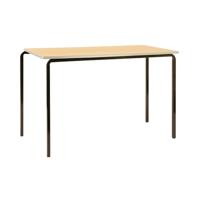 Jemini PU Edge Beech Top 1200x600x710mm Class Table With Silver Frame (Pack of 4) KF74571