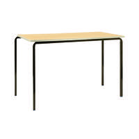 Jemini PU Edge Beech Top 1100x550x760mm Class Table With Silver Frame (Pack of 4) KF74572
