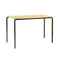 Jemini PU Edge Beech Top 1200x600x760mm Class Table With Silver Frame (Pack of 4) KF74573