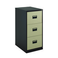 Talos 3 Drawer Filing Cabinet Coffee Cream KF78767