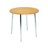 Arista Beech/ Chrome Round Bistro Table KF815146