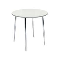 Arista Round Bistro Table White/Chrome KF838543