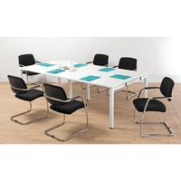 Arista 2.4M Bench Boardroom Table White KF838861