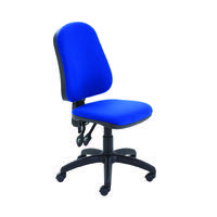 First High Back Operator Chair 640x640x985-1175mm Blue KF98506