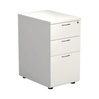First Desk High Pedestal 3 Drawer 600mm Deep White KF98511
