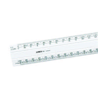Linex White Scale Rule Flat 1:20:500 300mm LXH 434