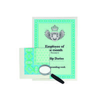 Decadry A4 Helicoid Turquoise/Blue B Certificate Paper 115gsm (Pack of 70) DSD1052
