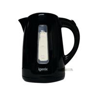 Igenix 1.7 Litre Jug Kettle Cordless Black (3kW jug kettle with rapid boil) IG7205