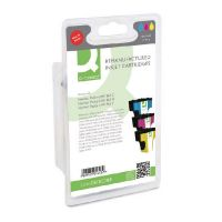 Q-Connect HP 363 Remanufactured Cyan/Magenta/Yellow Inkjet Cartridges (Pack of 3) CB333EE