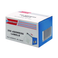 GoSecure Self Adhesive Address Labels (Pack of 1500) PB02278