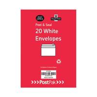 Envelopes C6 Peel & Seal White 80Gsm (Pack of 20) POF27425