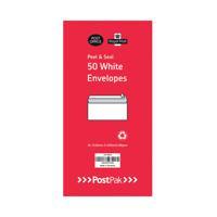 Envelopes Dl Peel & Seal White 80Gsm (Pack of 50) POF27426