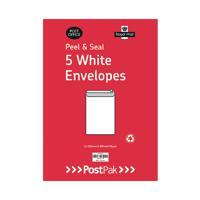 Envelopes C4 Peel & Seal White 90Gsm (Pack of 5) POF27429