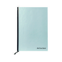Pukka Casebound A4 Notebook Feint Ruled With Margin 192 Pages Silver (Pack of 5) RULA4