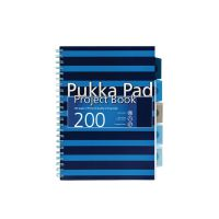 Pukka A4 Navy Project Book Navy/Blue (Pack of 3) 6671-NVY