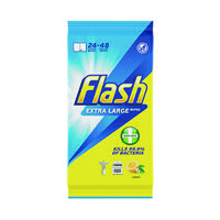 Flash Anti-Bacterial Wipes XL Lemon 24 sheets (Pack of 8) C002500