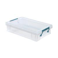 StoreStack 5.5 Litre Clear W400xD255xH80mm Storage Box RB90121